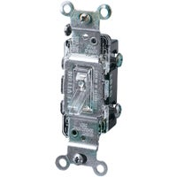 R50-01461-0LC Leviton Illuminated Toggle Single Pole Switch C24-01461-GLW, Do it Best Illuminated Toggle Single Pole Switch