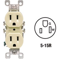 12650I Leviton Copper/Aluminum Duplex Outlet aluminum copper duplex leviton outlet