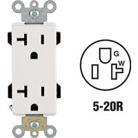 R82-16352-0WS Leviton Decora Plus Duplex Outlet duplex outlet