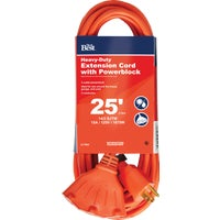 OP-JTW143-25-OR Do it Best 14/3 Extension Cord With Powerblock cord do extension it