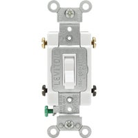 015-54504-02W Leviton Framed Toggle 4-Way Switch