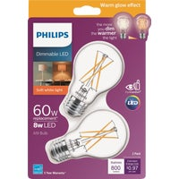 536532 Philips Warm Glow A19 Medium Dimmable LED Light Bulb