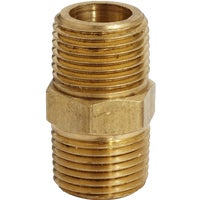 S-647 Brass Hex Nipple Coupler S-647, Brass Hex Nipple Coupler