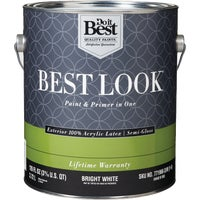 HW40W0950-16 Best Look 100% Acrylic Latex Paint & Primer In One Semi-Gloss Exterior House Paint best look