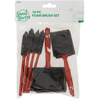 CC101062 Smart Savers 10-Piece Foam Brush Set With Plastic Handles brush foam savers smart
