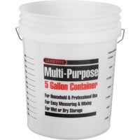 005GFNAT020 Leaktite Multi-Purpose Measure Pail 5GLCLR, Leaktite 5 Gallon Clear Plastic Pail