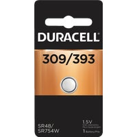 40287 Duracell 309/393 Silver Oxide Button Cell Battery 40287, 40287 Duracell Silver Oxide Coin Watch Battery