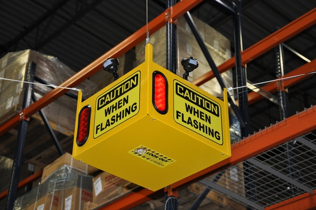 Look Out 3 Audible Floor Burst - Ceiling Mount - Collision Awareness Look Out 3 A B, Collision Awareness, Collision Safety, Safety Products, Forklift Safety, Warehouse Safety, Collision Awareness, Dock Safety, Dock Awareness, Hall Collision, Office Collision