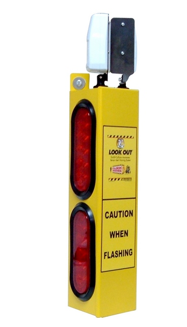 Look Out 2 - Rack/Wall Mount - Collision Awareness Look Out 2, Collision Awareness, Collision Safety, Safety Products, Forklift Safety, Warehouse Safety, Collision Awareness, Dock Safety, Dock Awareness, Hall Collision, Office Collision