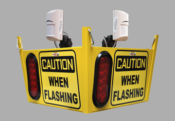Look Out 2 XL Audible Floor Burst - Ceiling Mount - Collision Awareness Look Out 2 XL A B, Collision Awareness, Collision Safety, Safety Products, Forklift Safety, Warehouse Safety, Collision Awareness, Dock Safety, Dock Awareness, Hall Collision, Office Collision