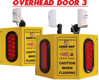 Overhead Door 3 - Collision Awareness Overhead Door 3, Collision Awareness, Collision Safety, Safety Products, Forklift Safety, Warehouse Safety, Collision Awareness, Dock Safety, Dock Awareness, Hall Collision, Office Collision, Door Monitor