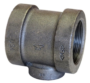 1-1/4 x 1-1/4 x 1 in. Threaded 125# Black Cast Iron Reducing Tee
