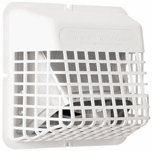 Bird Guard for 3 in. or 4 in. Vent Hood in White