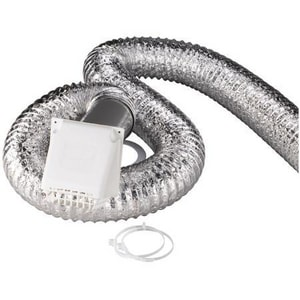4 in. X 8 ft. Dryer Vent Kit With White Hood