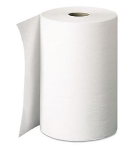 Hard Roll Towel in White (Case of 12)