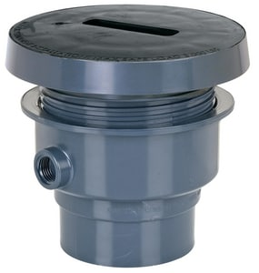 3 in. Opening 6- 1/2 in. Diameter Adjustable Floor Drain SCH40 Hub Connection Top Rough-In Drain