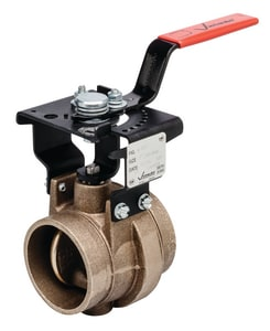 3 in. Brass EPDM Locking Lever Handle Butterfly Valve