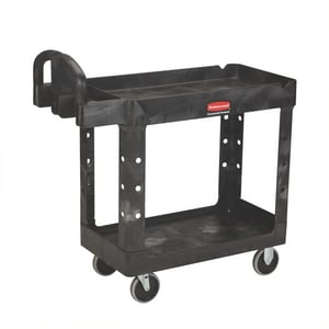 HVY DUTY UTL CART 2 SHELF BLAC