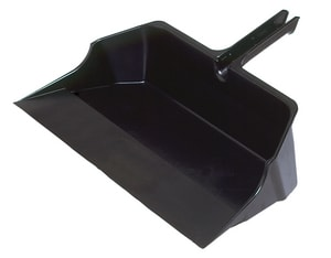 22 in. Jumbo Dust Pan with Handle in Black