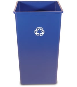 50 gal Square Recycled Container in Blue