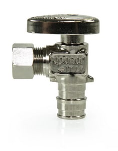1/2 in x 3/8 in Oval Handle Angle Supply Stop Valve