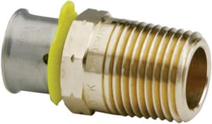 1-1/2 x 1-1/2 in. Bronze Pressure Straight Adapter