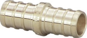 3/4 x 1/2 in. Brass PEX Crimp Coupling