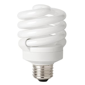 18W T3 Compact Fluorescent Light Bulb with Medium Base