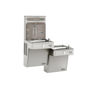 Bottle Filling Station with Bi-Level Filtered High-Efficiency Cooler in Stainless Steel