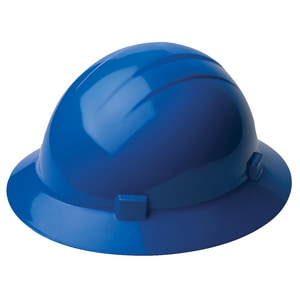 Full Brim Hard Hat with Mega Ratchet in Blue