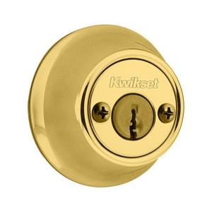 Double Cylinder Deadbolt in Polished Brass