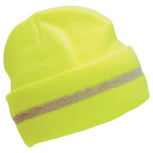 High-Visibility Knit Hat in Lime