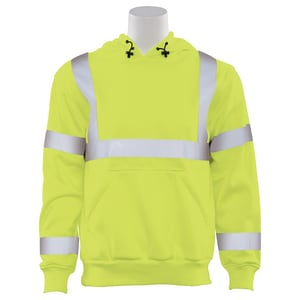 L Size High-Visibility Mesh Vest Hoodie in Lime