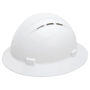 Full Brim Vented Rat Hard Hat in White