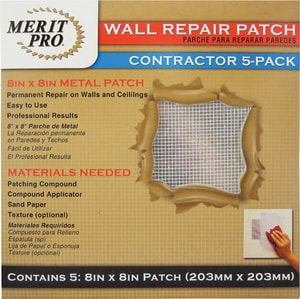 8 x 8 in. Wall Repair Patch Contractor Pack