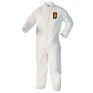 2XL Zipper Front Coverall in White