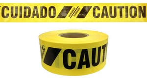 3X500 7 MIL BARR TAPE CAUTION YELL