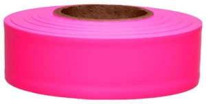 1-3/16X150 FLAGGING TAPE PINK GLO