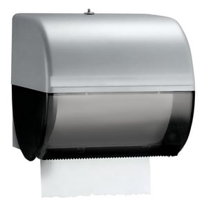 10 in. Hard Roll Towel Dispenser in Smoke Grey