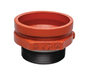 2-1/2 x 1-1/2 in. Grooved x Threaded Painted Male Reducer