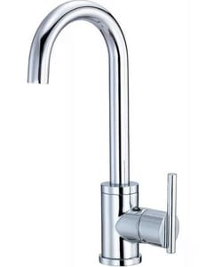1.75 gpm 1-Hole Bar Faucet with Single Lever Handle in Polished Chrome