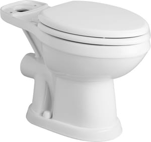 Elongated Toilet Bowl in White