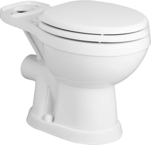 Round Toilet Bowl in White