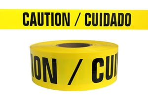 3X1000 BARR TAPE CAUTION YELL
