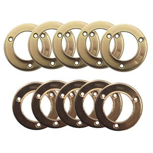 Closet Pole Hanger Bracket in Brass Plated 5 Pack