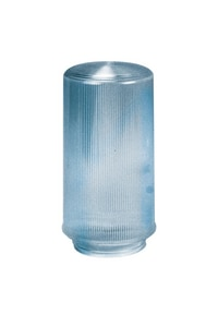 4 in. Lipped Ribbed Acrylic Cylinder Shade in Clear