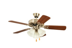 Ceiling Fan with 42 in. Blade Span in Brushed Polished Nickel