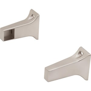 5/8 in. Bar Bracket in Satin Nickel 1-Pair