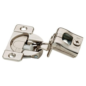 Overlay Soft Close Face Frame Hinge in Nickel Plated 2 Pack