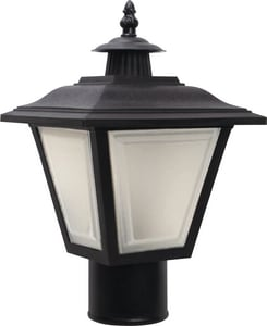 12-1/2 in. Non-Metallic LED Outdoor Post-Top Fixture Lighting in Black